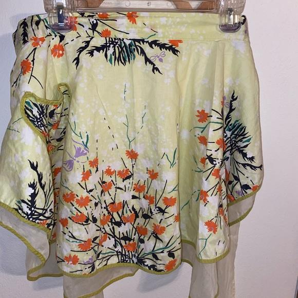 Vintage floral cottagecore half apron
